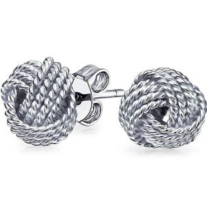 Tiffany & Co Sterling Silver Twist Knot Earrings